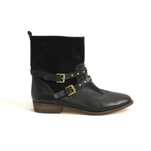 Coach Lilliana Black Leather Suede Boots